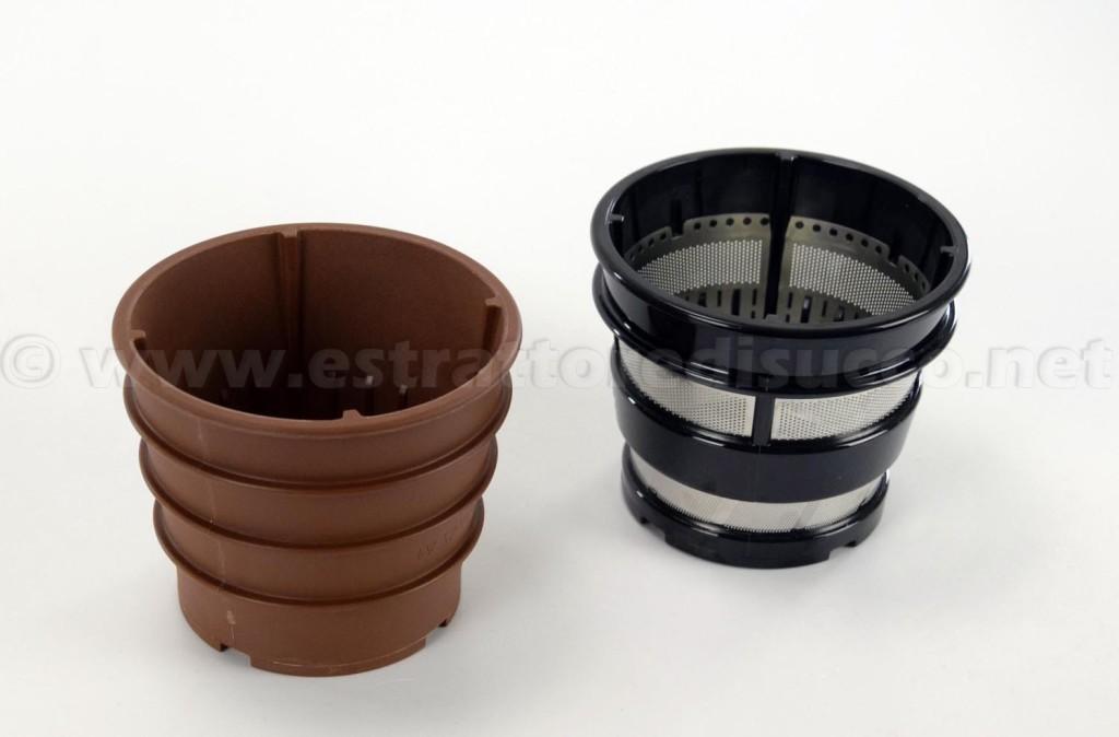 Filtro per sorbetti e filtro per succhi